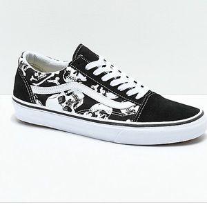 Vans Old Skool Skull Black White Sneakers